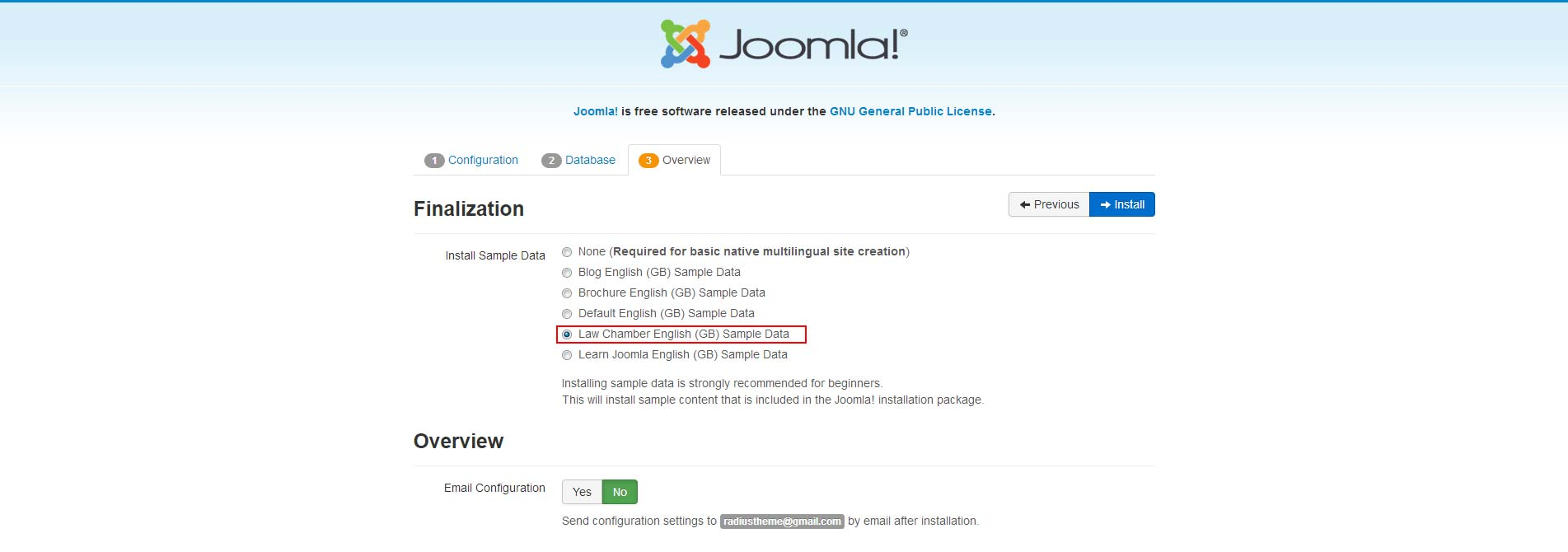 Documentation Law Chamber Joomla Template