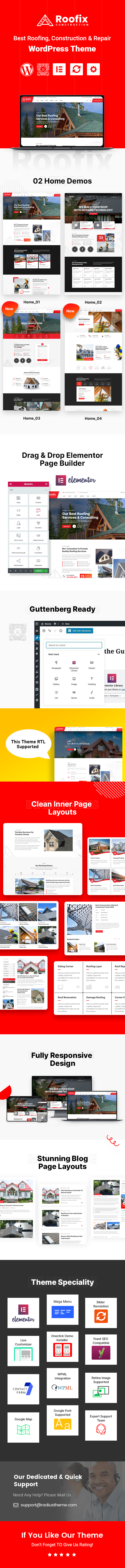 Roofing service WordPress Theme